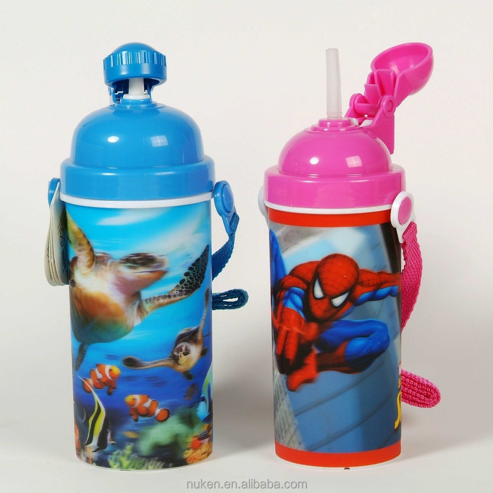 lenticualr 3d children sport water bottle