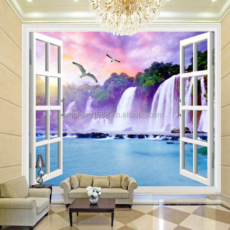 Do a manzaras 3d pencere duvar ka d i dekor duvar de - Wohnzimmergestaltung 3d ...