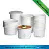 plain white paper disposable paper take away hot soup bowl container