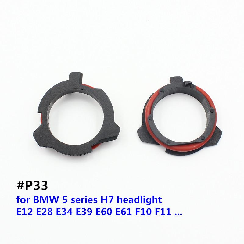Iluminaci/ón 1 par de portal/ámparas de l/ámpara LED H7 para adaptadores de soporte de coche Opel Iluminaci/ón para ti