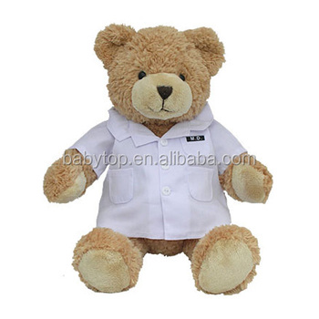 2018 Custom Cute Stuffed Soft Plush Brown Doctor Teddy Bear