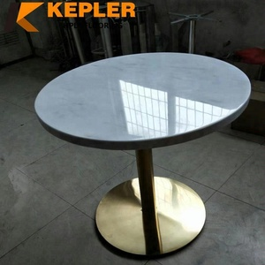 Kepler hot sale compact laminate formica panel marble finish round hpl table top made in China