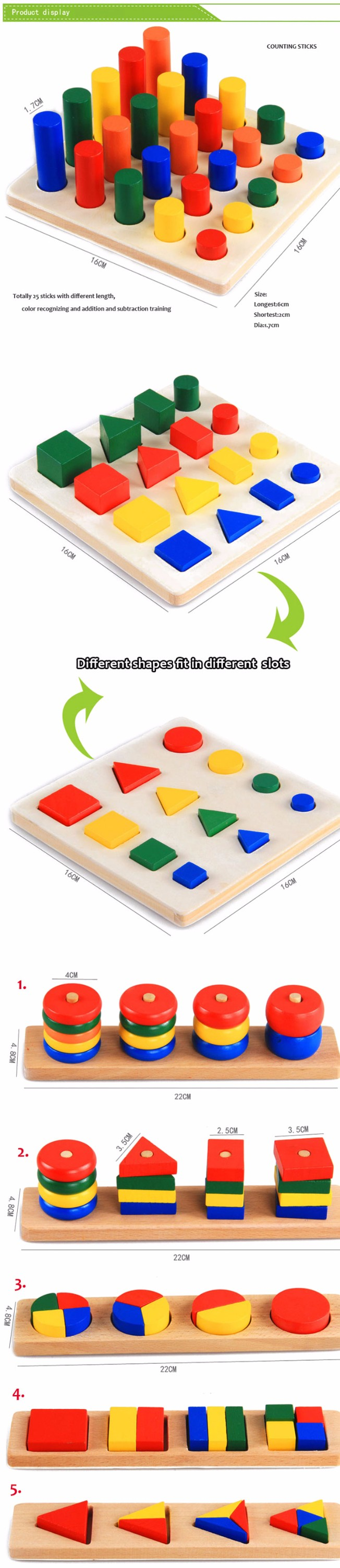 Montessori Aids Early Learning Toys Wooden Educational Kids Toy