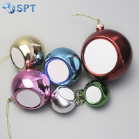 Blank sublimation christmas ball for heat transfer photo printing