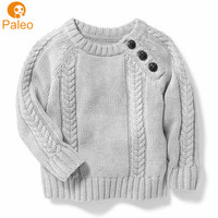 Manufacturer Custom Kids clothes gray hand made cardigan wool sweaters for children