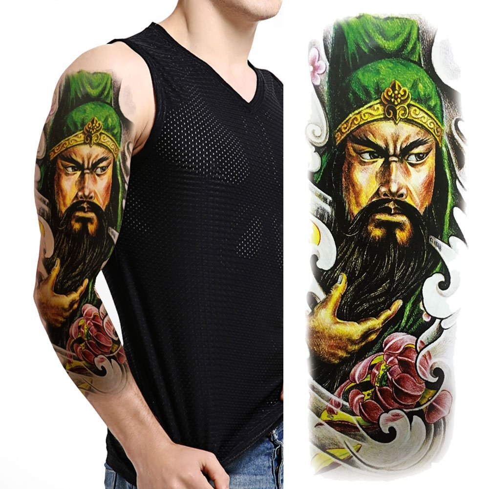 Buy Tafly Full Arm Tattoos Lord Guan Arm Shoulder Sticker Sexy Big