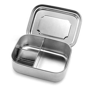 3 parts stainless steel 304 rectangle food bento lunch box