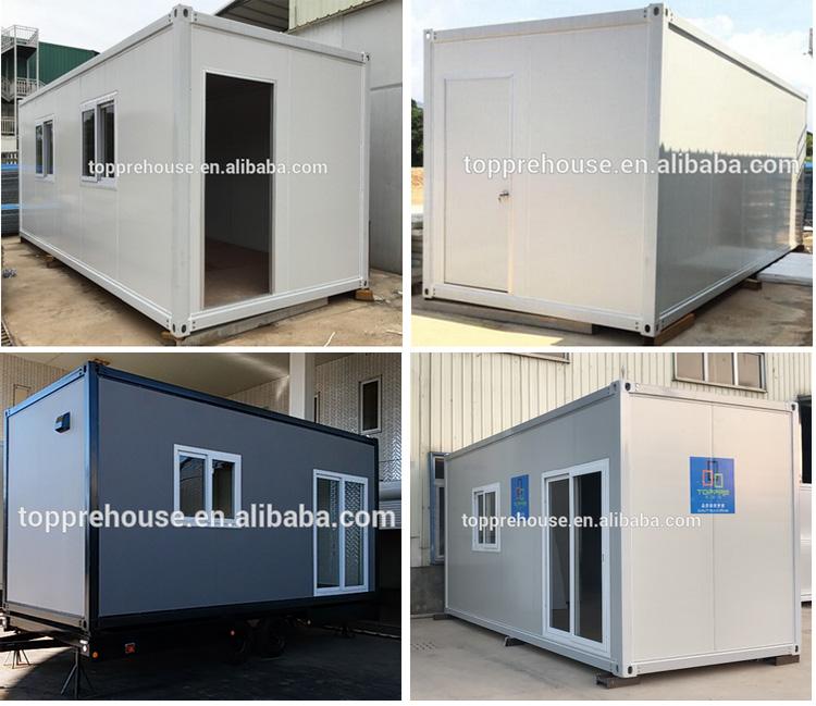 20ft çelik konstrüksiyon konteyner evler prefabrik için otel apartman avustralya'ya