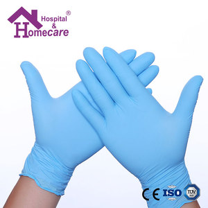 Disposable nitrile gloves factory price powder free nitrile work glove
