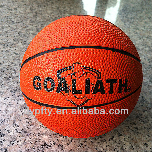 3# rubber promotional custom logo printed basketball ball