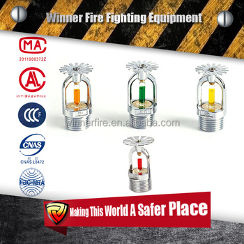 fujian huaxia color sprinkler head for fire suppression