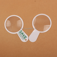 Cute Promotional plastic PVC magnifier bookmark magnifying lens
