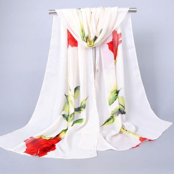 Lady Women Soft Chiffon Silk Scarf Wrap Shawl