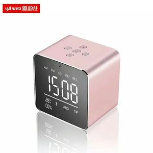 New designed V9 USB radio alarm clock bluetooth speakers