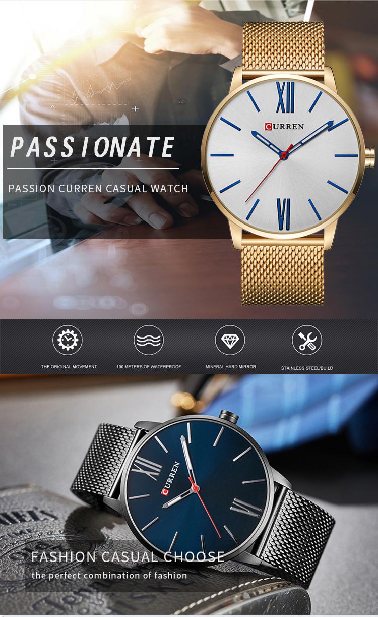 b41fe4a1bb3 Relogio Masculino Curren Watch Men Brand Luxury Full Steel Waterproof  Quartz Mens Watches Casual Sport Male