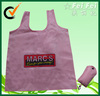 Reusable Fancy foldable SHOPPING tote bag, stylish t shirt bag on roll
