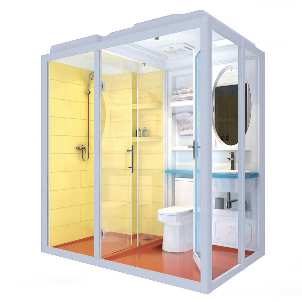 Frp Prefabricated Modular Bathroom Shower Box Toilet Unit