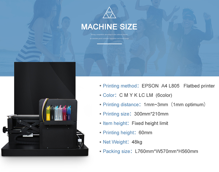 Multifunctionele A4 digitale inkjet t-shirt printer met RIP software