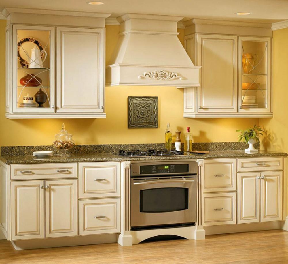 Aangepaste geprefabriceerde houten grain keuken meubels keuken ...
