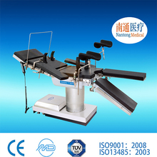 Top ten brand Nantong Medical factory since 1954 c arm compatible radiolucent electro hydraulic operating table