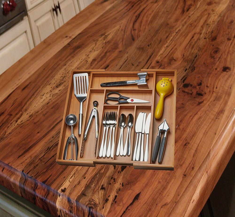 Küche Schublade Veranstalter Einstellbare Schubladeneinteilungen Zu Passen Genau In Jede Attraktive Bambus