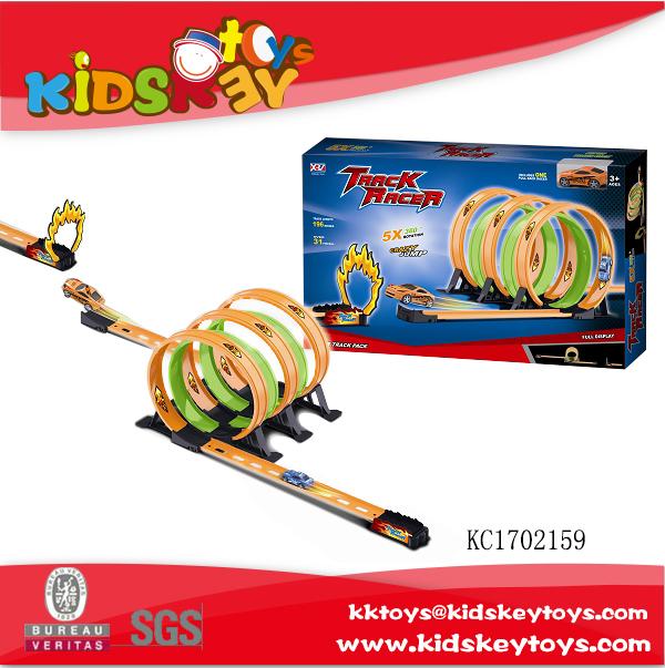 Track racer high speed racing car pull back