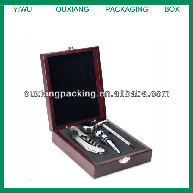 Elegance Round Shaped Wholesale Wine Set In Wooden Box