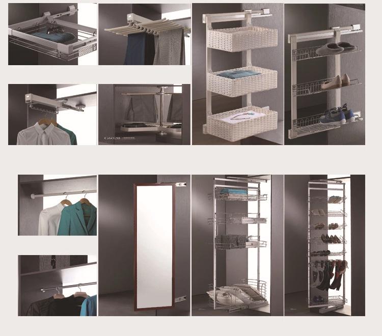 2019 Hangzhou Vermont Moderne I Vormige Custom Glazen Schuifdeur Houten Kast Garderobe Kast