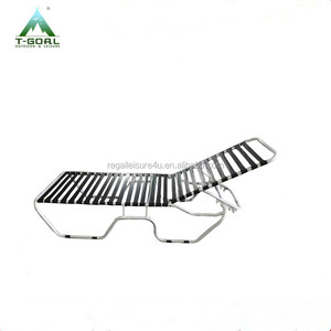 Outdoor Garden Furniture Beach Swimming Pool Pvc Strap alu sun lounger