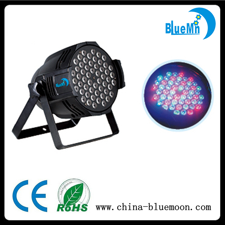 Wholesale price 54pcs 3W RGBW 4in 1 full color zoom LED par can light