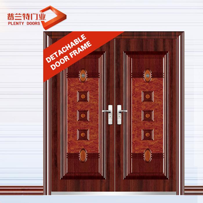 principal moderna puerta de acero inoxidable de doble puerta