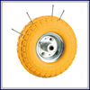 Heavy duty Free sample pu foam small rubber wheels for sale