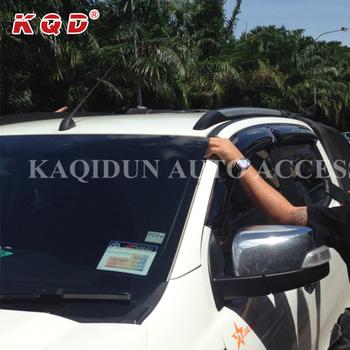 Window Deflector chrome / matte black car door Window Visor For Ford Ranger & Window Deflector Chrome / Matte Black Car Door Window Visor For Ford ...