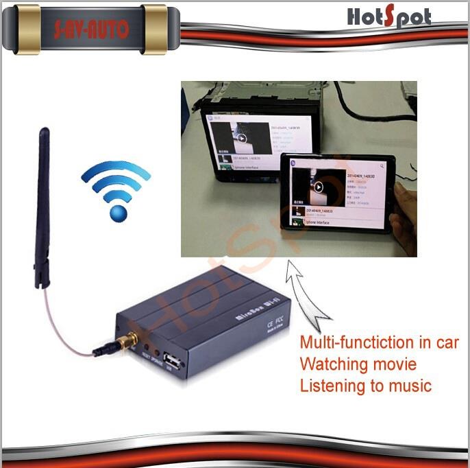Compatible with IOS9 and android car miracast wireless box Car Audio Video Interface