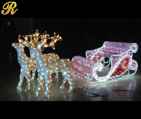 Acrylic Light Reindeer Sculpture For Outdoor Christmas