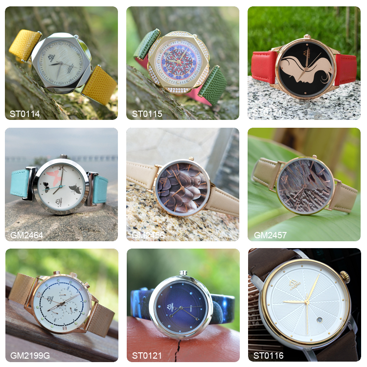 New stainless steel luxury quartz classic wrist watch