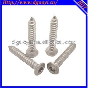 M6 Din Standard Flat Torx Head Self Tapping Screw