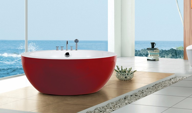2017 Modern Indoor One Person Freestanding Bath Tub With