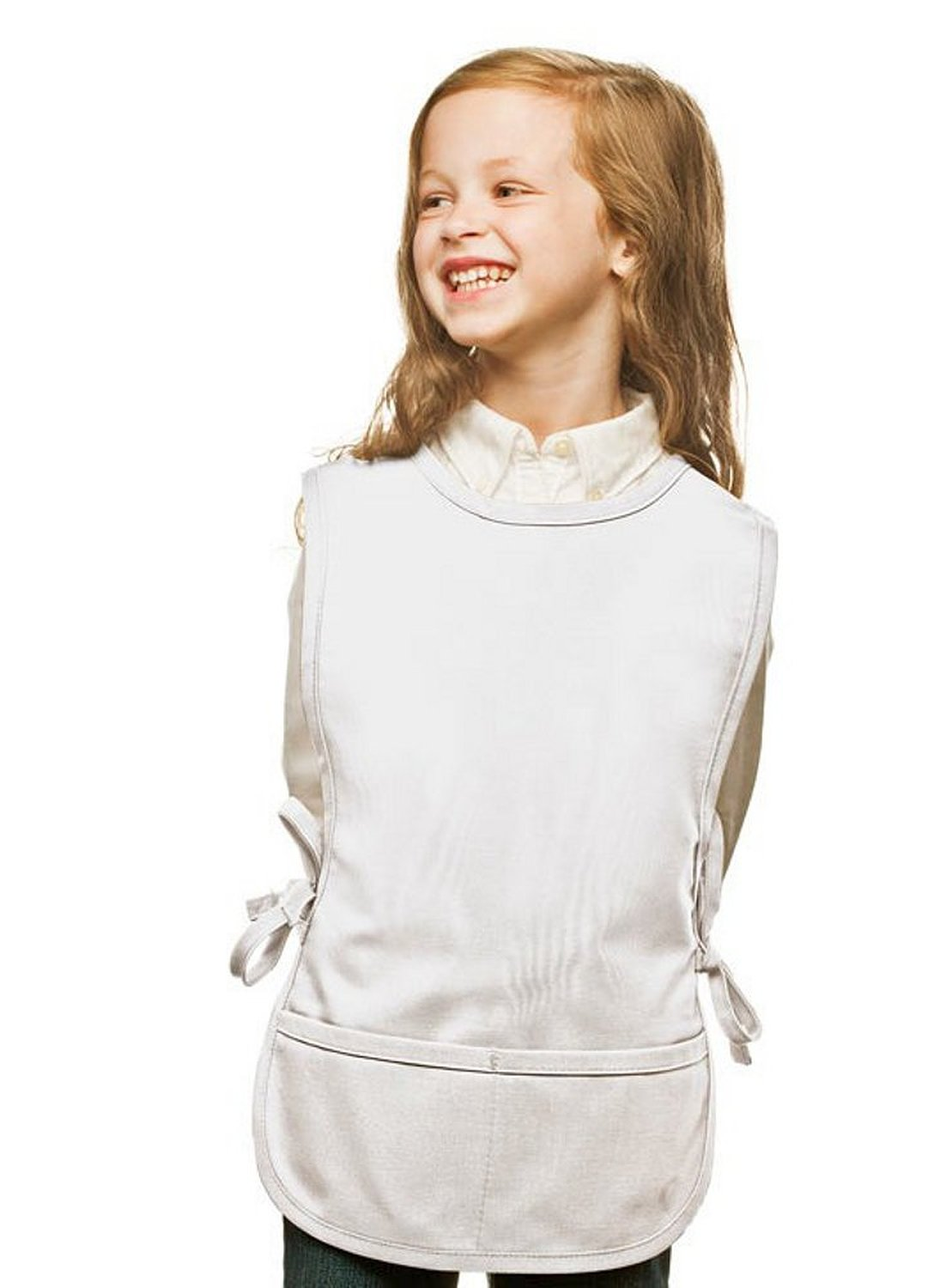 White Kids Art Smock, Cobbler Apron, High Quality Poly/Cotton Twill Fabric
