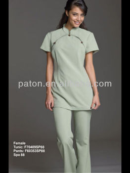 New design spa uniform buy spa uniform workwear hotel for Spa uniform europe