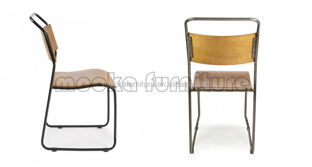 Metal Frame Dining Chairs modern design metal frame dining chair plywood seat dining chair