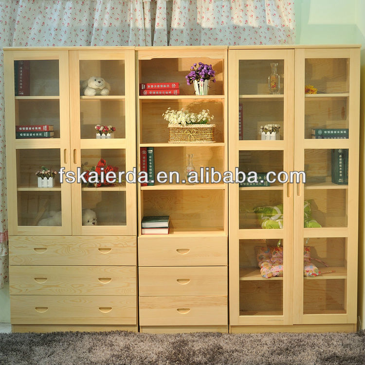 Oak Bookcase With Glass Door And Drawers - Buy Bookcase With Glass Door,Oak  Bookcase With Glass Door,Bookcase With Glass Door And Drawers Product On