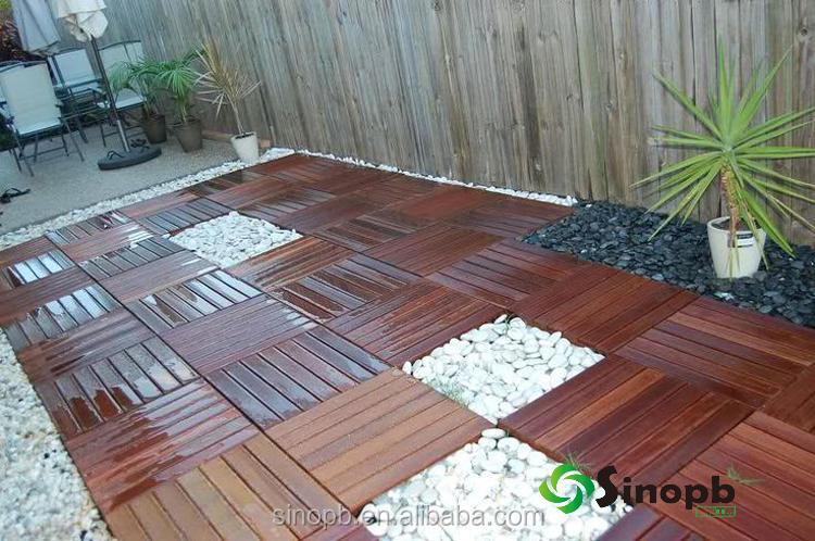 Houten Tegels Tuin : Diy ipe hout outdoor waterdichte houten vloer voor zwembad