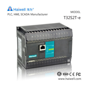 New design Haiwell T32S2T-e 32points easy programming PLC controller automation with Ethernet port