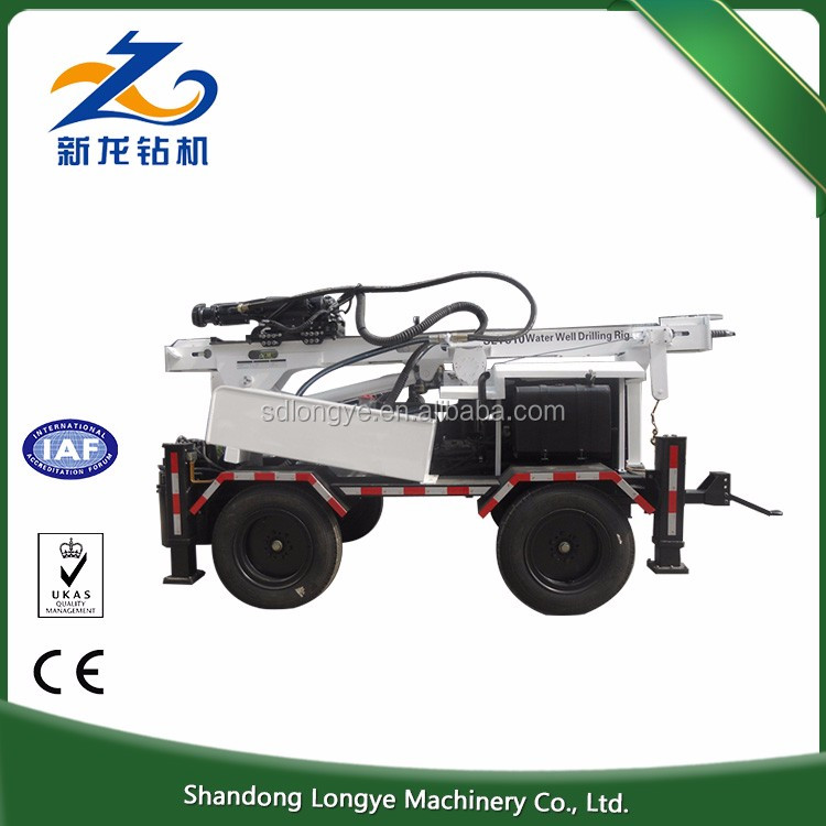 260m hydraulic trailer portable borehole SLY510 used truck mounted water well drilling rig