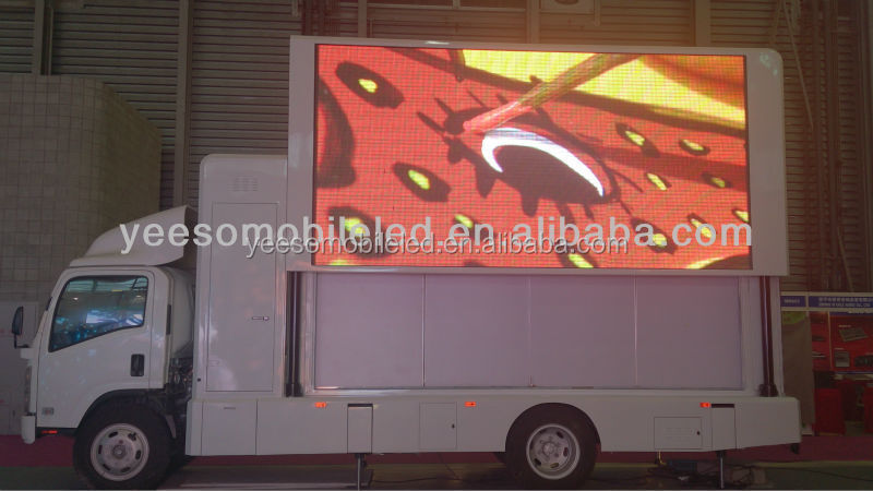 Mobile LED advertising truck delivering very high levels of reach and frequency to a campaign