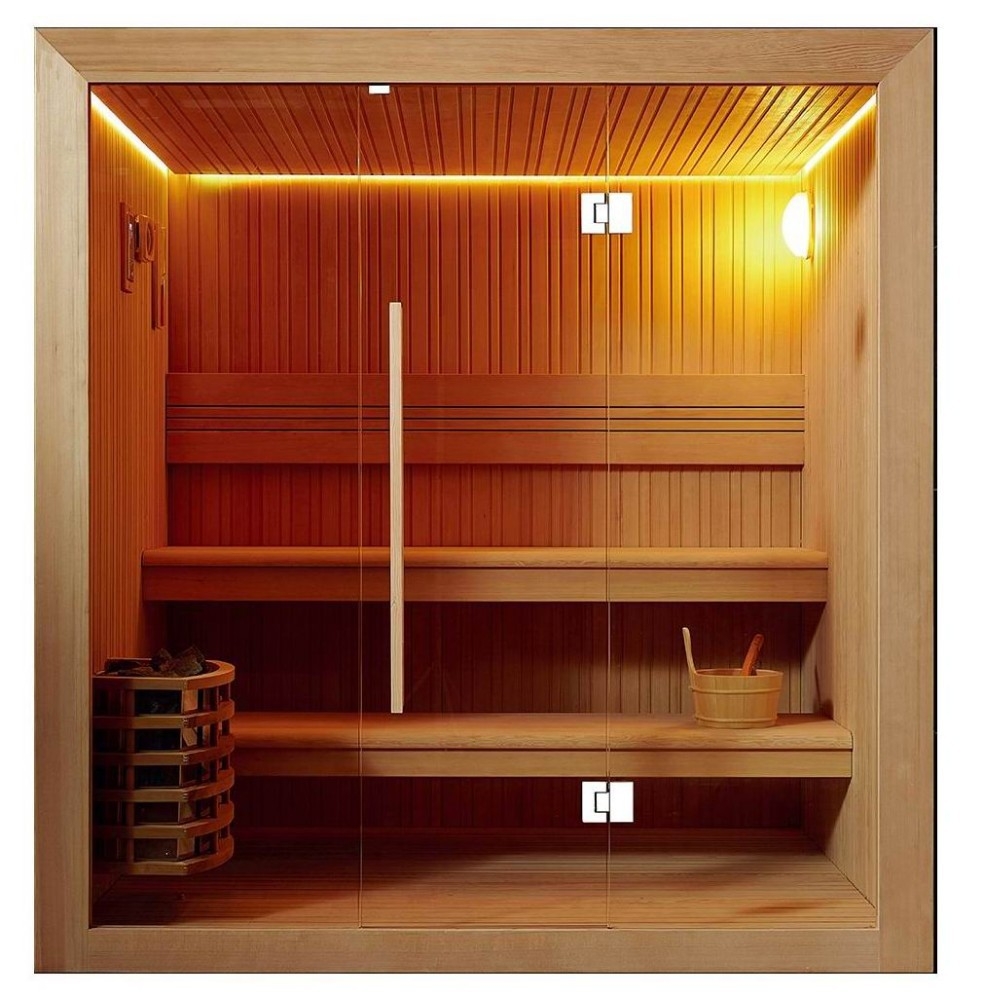 Traditional sauna room finnish saunas with harvia sauna for Sauna for house