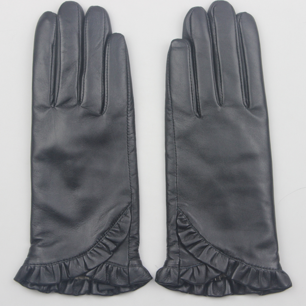 Wholesale 2016 classical style womens hands warm winter cheap leather gloves