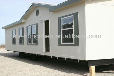 low cost prefab container house (five container houses joint together)