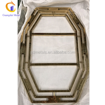 Custom luxury modern fancy  home decoration stainless steel metal wall mount mirror frame.